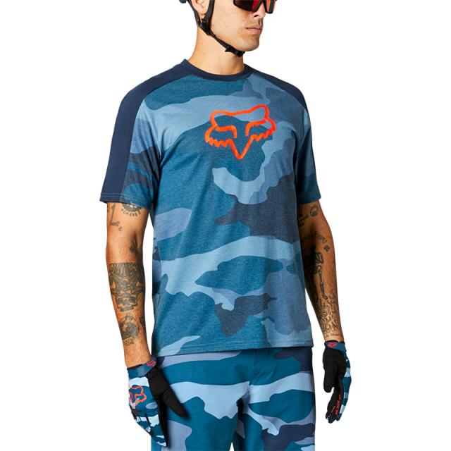 Fox Ranger DriRelease Jersey 2021 - Refuel Blue Camo