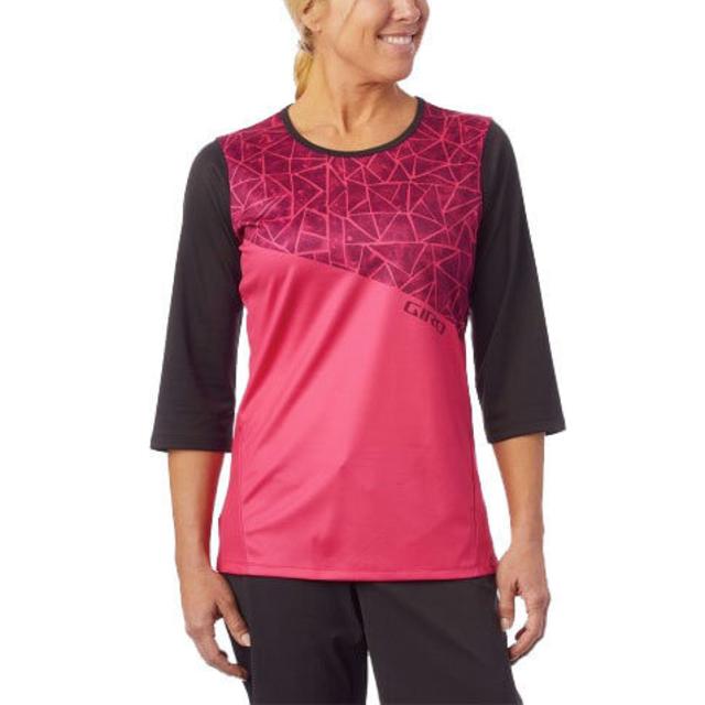 76868610423M-Giro Roust 3/4 Womens Jersey Black/Pink-10