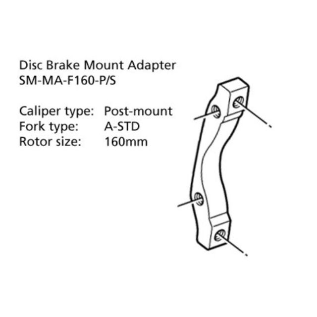 Shimano Disc Mount Adapter (SM-MA-F160-PS)