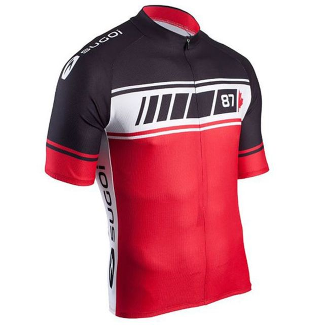 Sugoi Evolution Team Short Sleeve Jersey - Red/Black