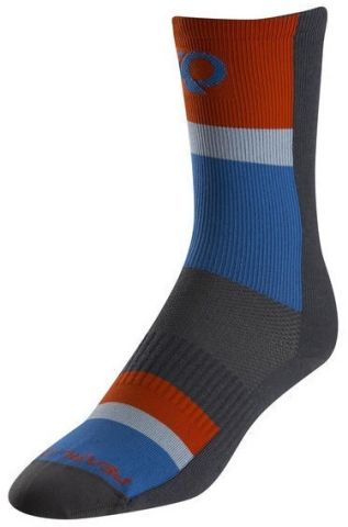 Pearl Izumi Elite Tall Long Core Socks -Grey Stripe