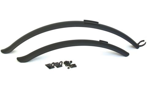 Plastic Clip-on 700c Hybrid Mudguard Set
