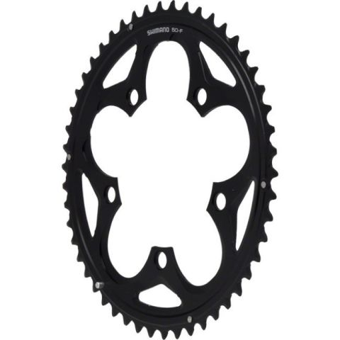 Shimano 105 110pcd Outer Chainring 50T - Black