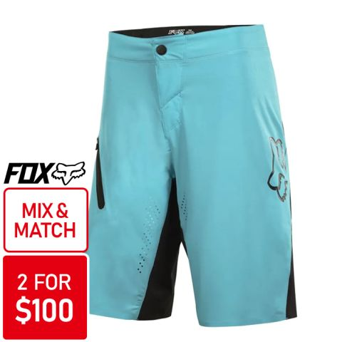 Fox Attack Ultra Shorts 2015 [Colour: Ice Blue] [Si