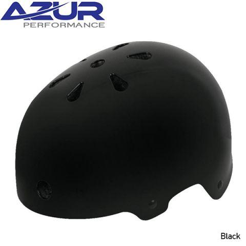 Azur U80 BMX Helmet - Gloss Black - Small