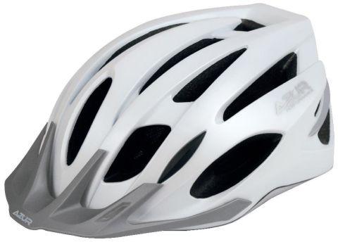 Azur L55 Helmet -White/Silver  M