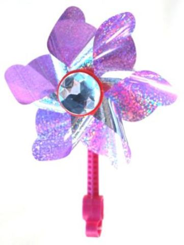 Kids Purple Clip-on Windmill