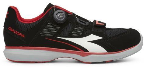Diadora Gym Shoes -Black/Red  43