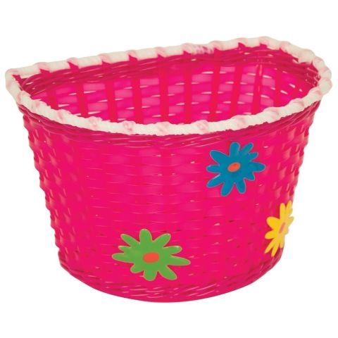 Bikecorp Kids Plastic Flowers Front Basket