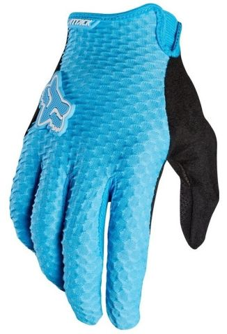 Fox Attack Full Finger Gloves 2016 [Colour: Cyan Bl