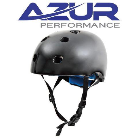 Azur U90 BMX Helmet - Gloss Black - Medium/Large