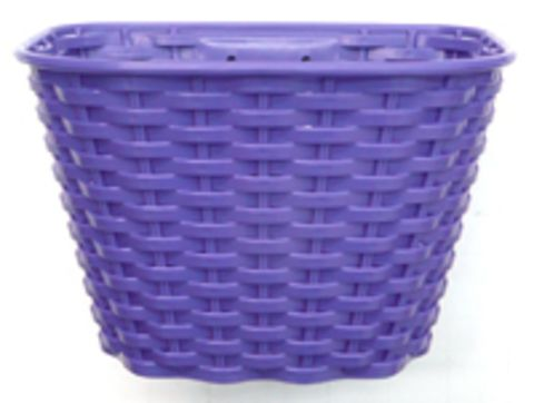 Kids Plastic Front Basket Purple