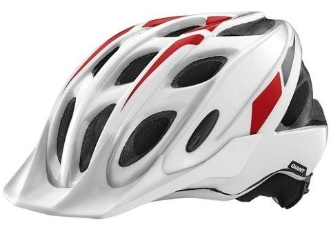 Giant Exempt Helmet -White/Red  M/L 50-57cM