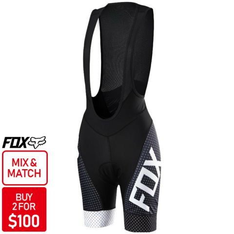 Fox Switchback Comp Bib Shorts 2016 [Colour: Black]
