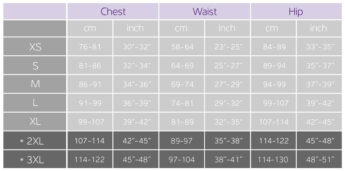 Liv Clothing Size Guide