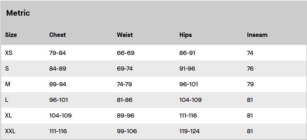 Louis Garneau Womens Clothing Size Guide