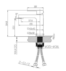 Innova Nautica Matte Black Basin Mixer