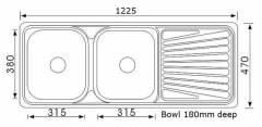 1225 Tandi Double Bowl Sink