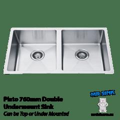 760mm Piato Double Undermount Sink