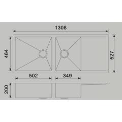 1300mm Piato Undermount Sink