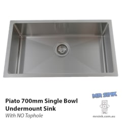 Piato 700 Undermount Single Bowl Sink