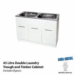 Yakka Double Laundry Tub And Cabinet Gloss