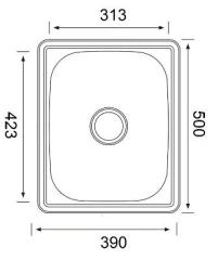 Yakka 30 Litre Inset Tub Standard Bypass