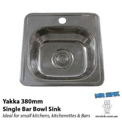 Yakka Stainless Steel Bar Bowl 380x380x170 1TH