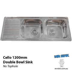 1200 Cello Double Bowl Sink