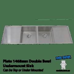 Piato 1468mm Double Bowl Undermount Sink