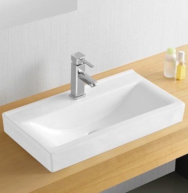 Zeavola ABOVE COUNTER BASIN LOW PROFILE 605 x 325 x 80 (mm)