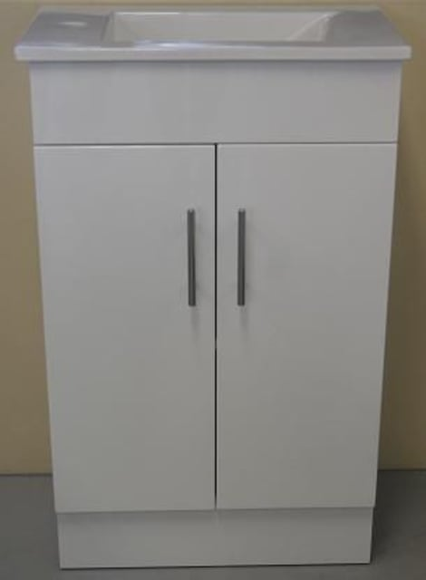 320mm Slimline Top Vanity Unit 1Taphole 2 Door
