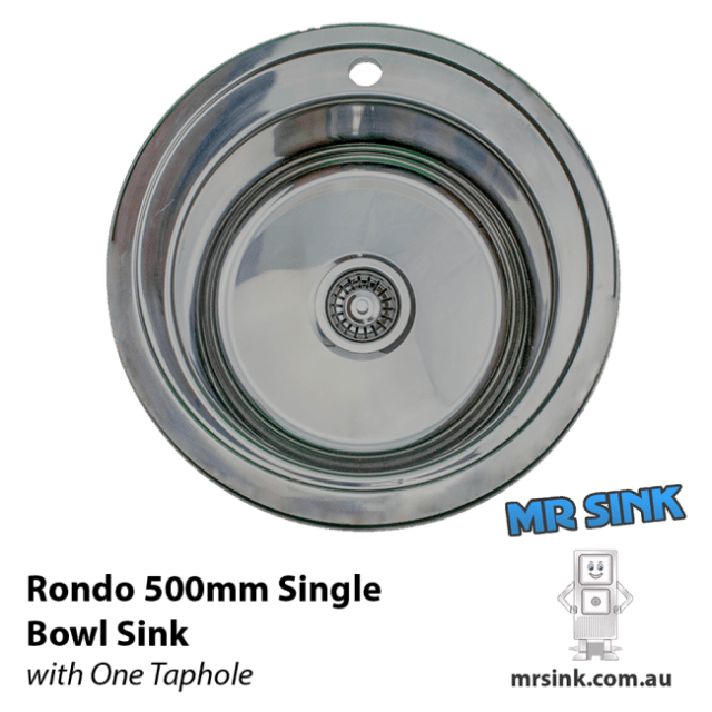 500mm Rondo Single Bowl Sink