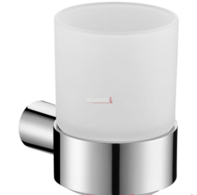 Chrome Tumbler Holder Round Design Belvista