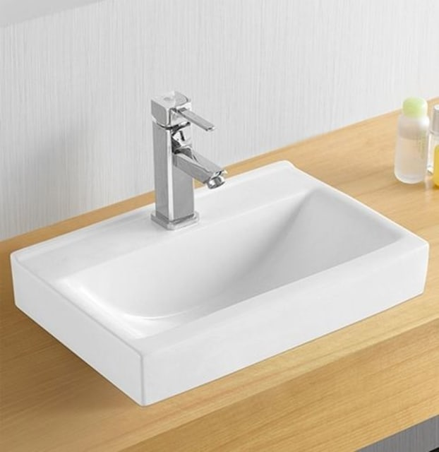 Low Profile Above Counter Basin 455 X 305 1Taphole