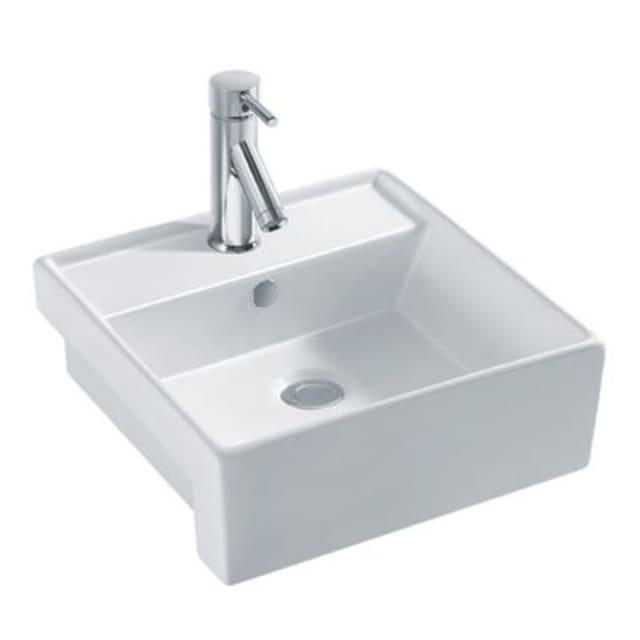 Square Semi Recessed Basin 410x410x145mm 1TH