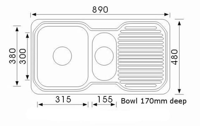 890 Ariette 1 And 1/4 Bowl Sink