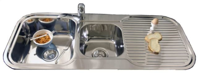 1200 Grande 1 And 3/4 Double Bowl Sink