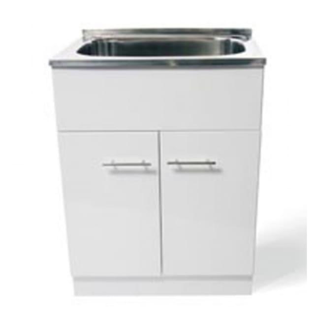 Yakka 45 Litre Trough Tub & Timber Gloss Cabinet