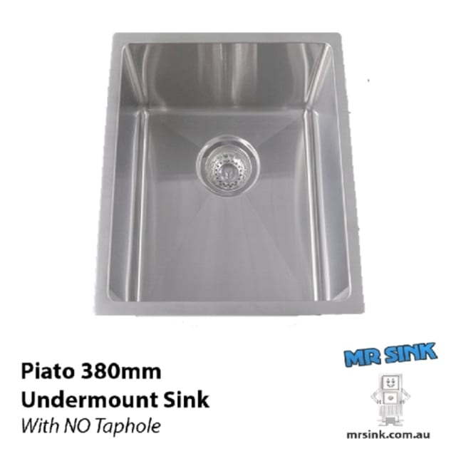 380mm Piato Single Undermount Sink