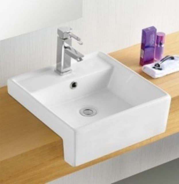 Zeavola 410mm semi recessed basin 1TH