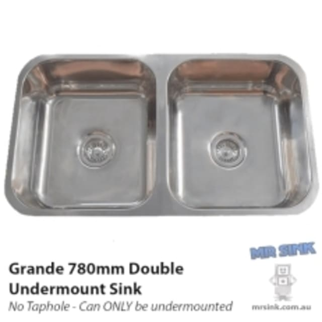 780mm Grande Double Undermount Sink