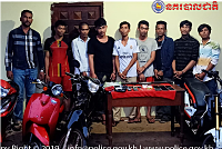 Police in Kampong Cham detain 9...