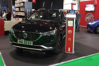 Unusual ! The MG ZS EV electric car...