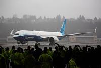 Boeing flies its first test flight of...