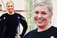 Olivia Colman: Newly-blonde The Crown...