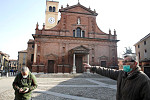 A dozen towns in northern Italy are...