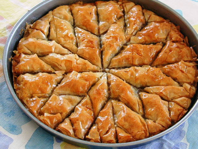Sweet and Sticky freshly baked Baklava Parramatta