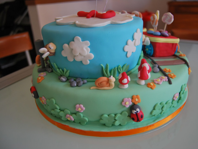 Two Tier Kids Character Cake - You Choose Bondi Beach
