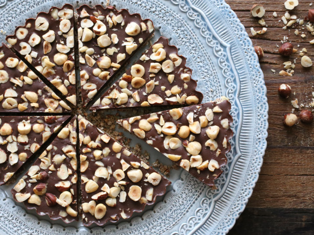 Gluten Free Chocolate and Hazelnut Slice Newtown